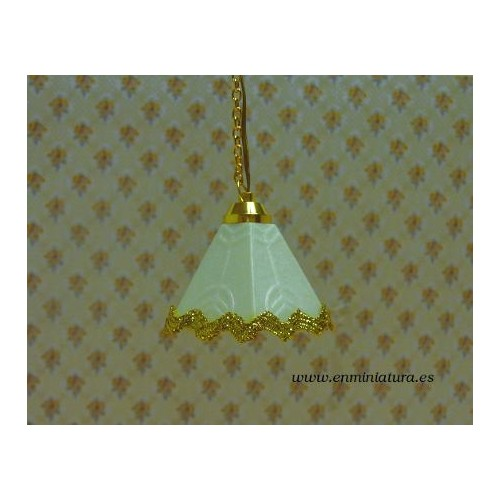 Lámpara techo filo dorado