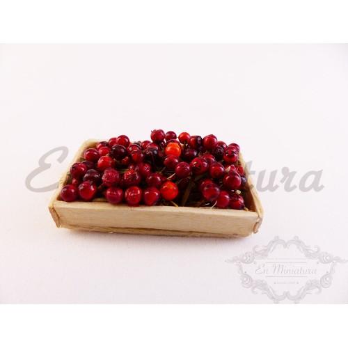 Barquilla de cerezas