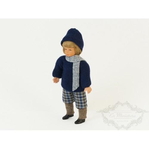 Niño con bufanda