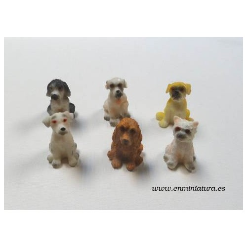 Juego de seis perros