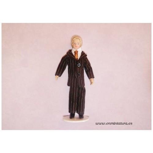 Muñeco traje de rayas