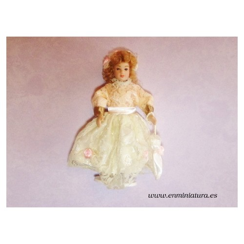 Muñeca, niña con sombrilla