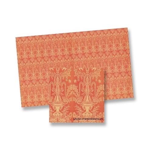 Stamped orange paper