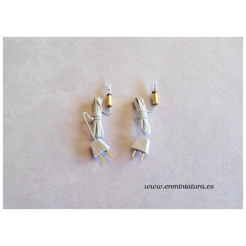 Bombillas con casquillo y cable