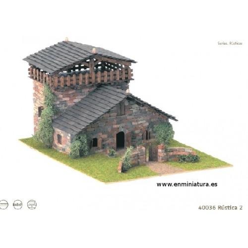 Maqueta de casa rústica