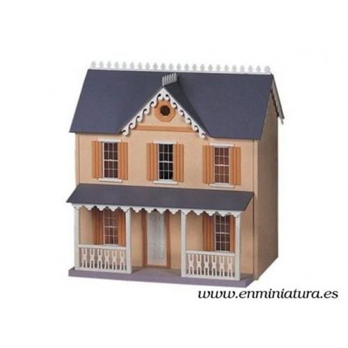 """Casa de muñecas """"melocotón y crema"""""""