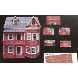 Papeles para exterior de casas o maquetas, Con relieve